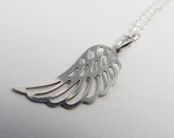 Silver necklace Angel Wings