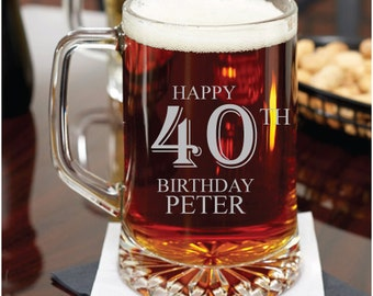 Birthday Personalized 15 oz Beer Mug - Gifts - Holiday Gifts -Birthday Gifts (JM5714378-4)