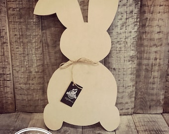 Unfinished, Easter, Bunny, Door, Hanger, DIY, Blank, Wood, Cut, Out, Ready, To, Paint, Custom, DT2084