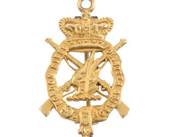 15 KT Gold  English Military Brooch
