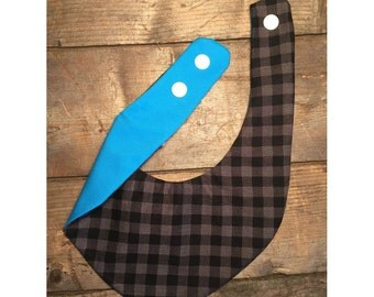Black Plaid bib - collection all a cabin - waterproof bib for baby