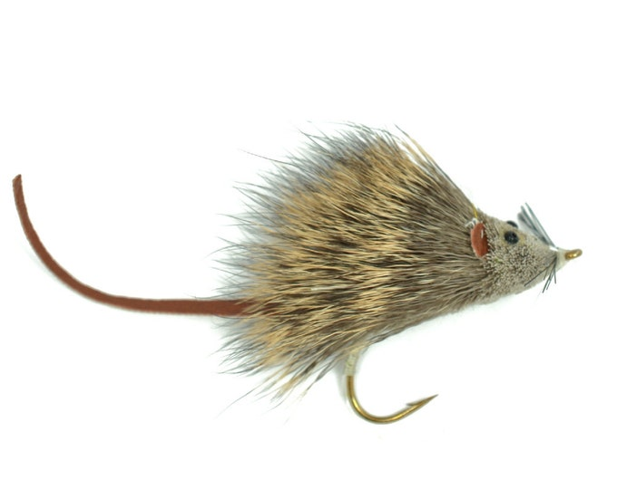 Bass Fly Fishing Bug: Deer Hair Scruffy Rat - Hook Size 2 - Premium Wide Gape Bass Hooks With Weed Guard