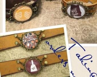 College Leather Bracelets