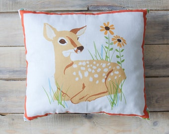 READY TO SHIP! Fawn Pillow  30х30 cm