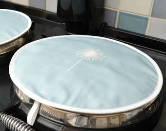 Dandelion Hob Covers -Set Of Two, Chefs Pads, Pot Holders, Gift For Her, Gift For Cook, Wedding Gift, High Quality, Stylish,Made in UK