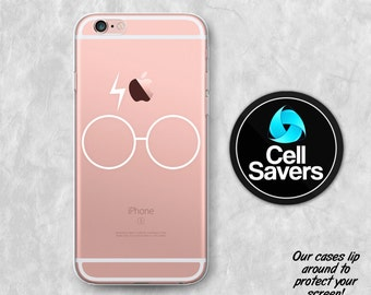 Glass Lightning Sr Clear iPhone 6s iPhone 6 iPhone 6 Plus iPhone 6s Plus   iPhone 7 Plus White Harry Potter Inspired iPhone 8 iPhone X Case