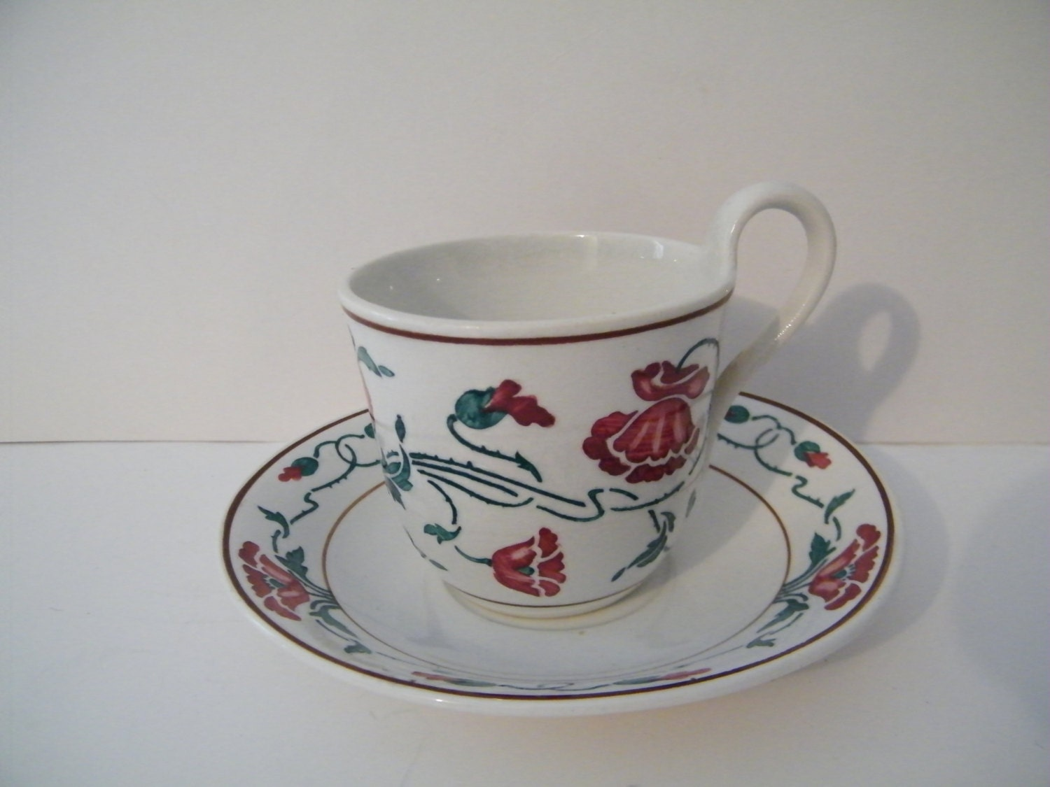 villeroy and boch dresden cup and saucer set vintage mid. Black Bedroom Furniture Sets. Home Design Ideas