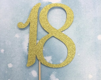18th cake topper, 18 cake topper, 18th birthday party cake topper