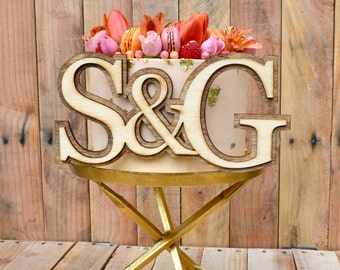 Custom Initial Wedding Sign/Decoration