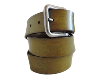 Chartreuse Leather Belt