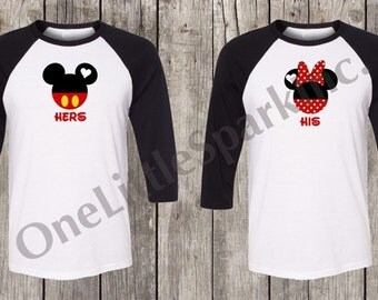 I'm her Mickey I'm his Minnie shirt Disney couple Disney matching Disney his and hers  I'm her mickey I'm his minnie raglan shirt