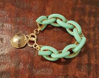 Engraved Link Bracelet
