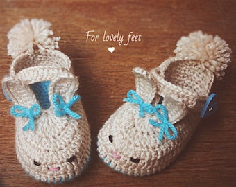 Easter bunny baby booties newborn  booties infant shoes baby slippers baby Easter clothing baby photo props bunny booties toddler slippers