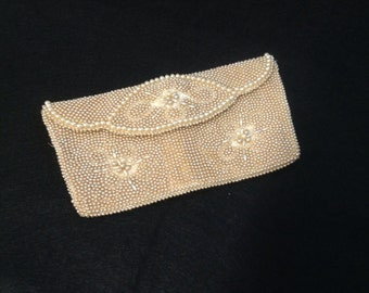 Vintage Faux Pearl Evening Bag