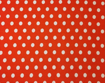 Polka Dot - Orange/White - Vintage Fabric