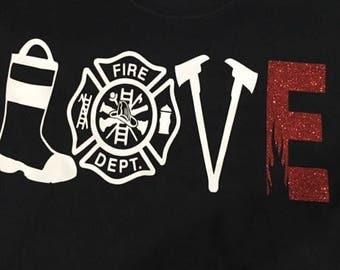 Fire Fighter Love shirt