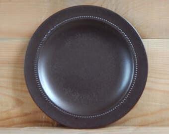 Scandinavian Vintage Höganäs Keramik Shocolate Brown Plate Hoganas Ceramic Matte Plate Stoneware