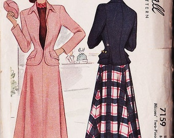 Vintage 40's or 50's McCalls Sz 14 skirt and jacket pattern