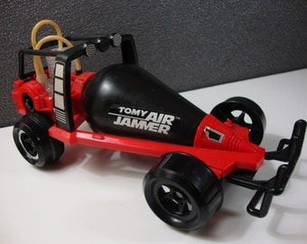 1982 Tomy Air Jammer Road Rammer with Black Tank Vintage Dune Buggy Toy Car