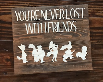Lost Boys Wood Sign   Disney Inspired Wood Sign   Hand painted Wood Sign   Peter Pan Inspired Wall sign   Peter Pan Wood Sign  