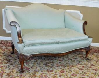 upholstered sofa etsy