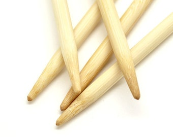 Bamboo double pointed needles 9.0 in 20 cm length