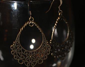 Intricate Copper Earrings