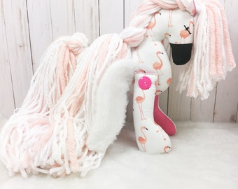 "Pegasus Stuffed Animal; 14"" Horse Stuffed Animal; Winged Horse; Stuffed Animal Horse; Plush Horse; Toy Horse; Cotton Pony; Horse with wings"