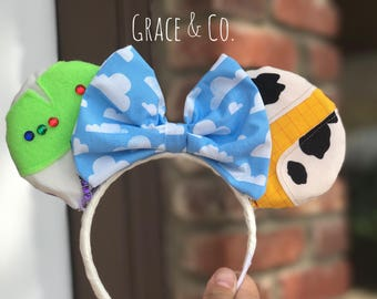 Toy Story Minnie Mouse Ears || Buzz & Woody Mouse Ears headband