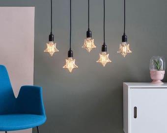 Star Designer Light Bulb Vintage Style G80 E26 Or E27 Screw Filament Decorative Light