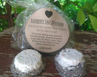 Elderberry sage bath bomb