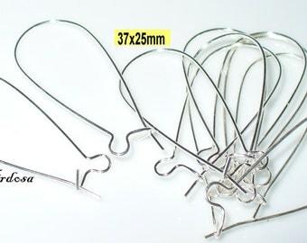 10 hoops drops 37x25mm Silver (503.37)