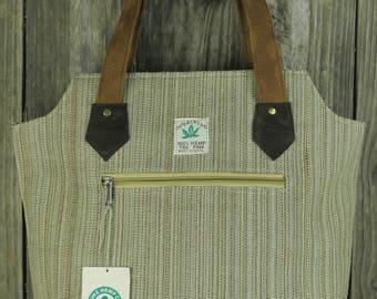 Big Bag Hemp Tote with suede