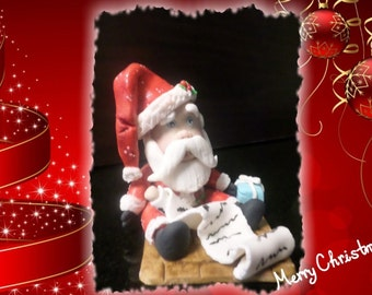 Christmas Santa Clause Edible Cake Topper