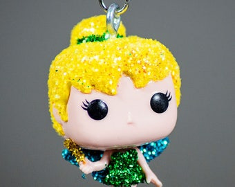 Glitter Tinkerbell funko pocket pop necklace