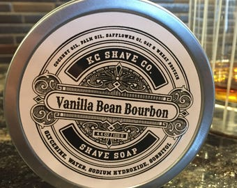 Fathers Day Gift. Vanilla Bean Bourbon Shaving Soap. Soap. Mens Shaving Soap. Mens Grooming. Wet shaving. For Dad. Husband Gift.