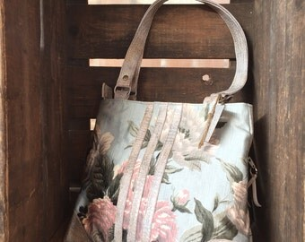Handbag mother-of-Pearl Trapeze Collection blood cold cloth and leather reptile way