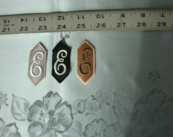 EMBROIDERED MONOGRAMMED INITIAL – E