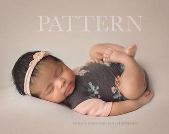 NEWBORN ROMPER PATTERN -  Sewing Pattern, Graham/Aaliyah (Boy or Girl) Long or Short Pants