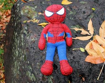 Spiderman Amigurumi Crochet Plush Doll