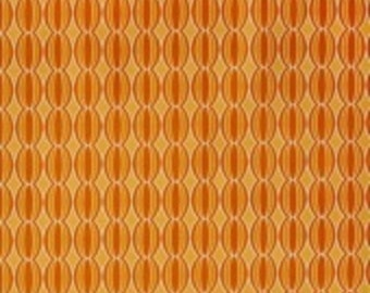 "Riley Blake designs -   ""Botanique"" Circles in Orange  Cotton Fabric"