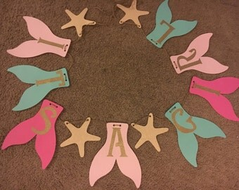 "Mermaid ""ITS A GIRL"" Baby Shower Banner! [Pinks & Teal]"
