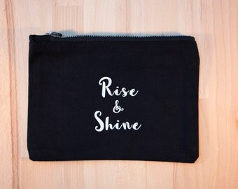 Rise and shine – Medium black make up bag