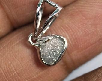 2.10 cts Gray rough diamond pendant, rough diamond Pendant , raw diamond pendant, uncut Grey diamond necklace, rustic diamond pendant