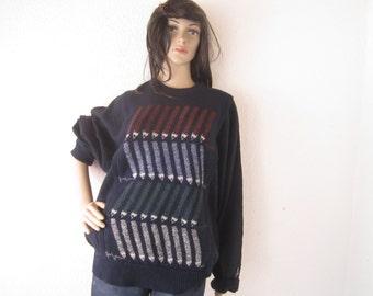 Vintage 80s Carlo Colucci jumper sweater wool wool unisex oversized