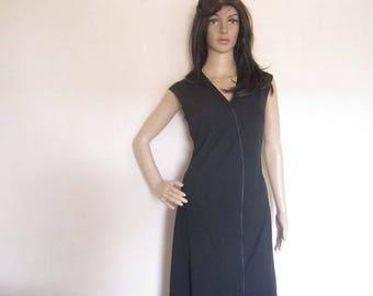 Vintage 70s dress Verena dress robe avant-garde S