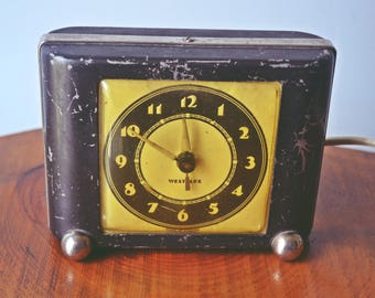 1930's Westclox Ben Bolt Electric Alarm Clock, Metal Alarm Clock, Vintage Clock, Non-Working
