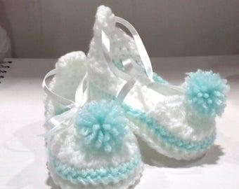 Baby Girl Crocheted Fairy Shoes, Custom Made, Handmade