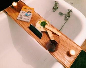 Solid European Oak Bath Tidy Shelf