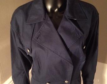 Navy blue cotton jacket COURREGES jacket